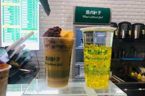 晶点叶子奶茶产品