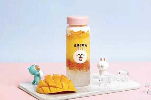 布朗熊与可妮兔奶茶产品