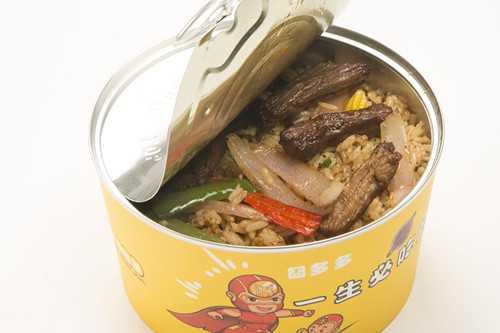 囧多多易拉罐茶油炒饭产品