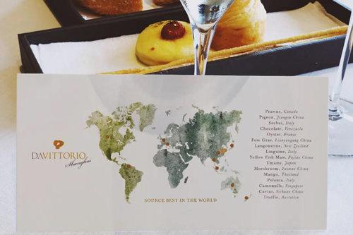 DA VITTORIO SHANGHAI 一周年献礼菜单